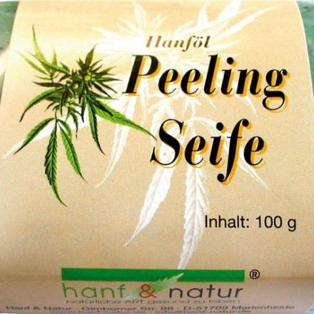 Peelingové mýdlo z konopného oleje