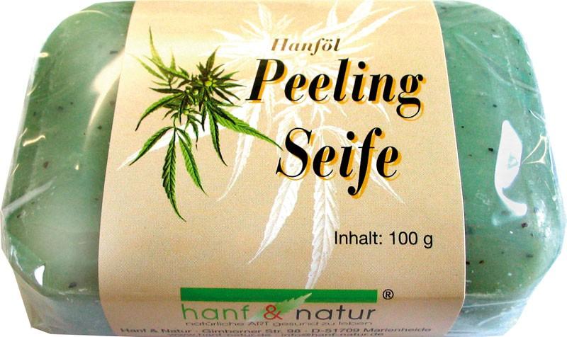 Peelingové mydlo z konopného oleja