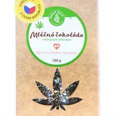 Mléčná čokoláda s konopným semínkem 100g, Zelená Země