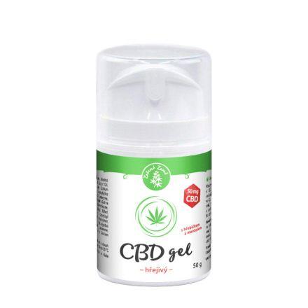 Zelená Země CBD hřejivý gel 50 g