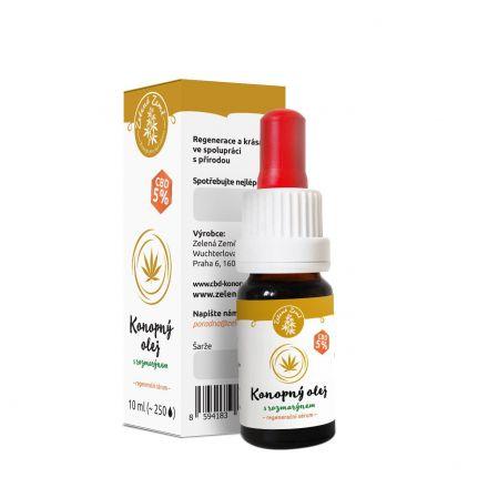 CBD konopný olej s rozmarýnem regenerační sérum