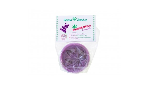 Zelená Země Konopné mýdlo Levandule 80 g