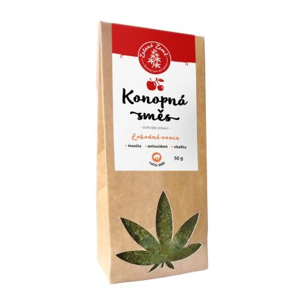 Zelená země Konopný čaj ovocný sypaný 50 g