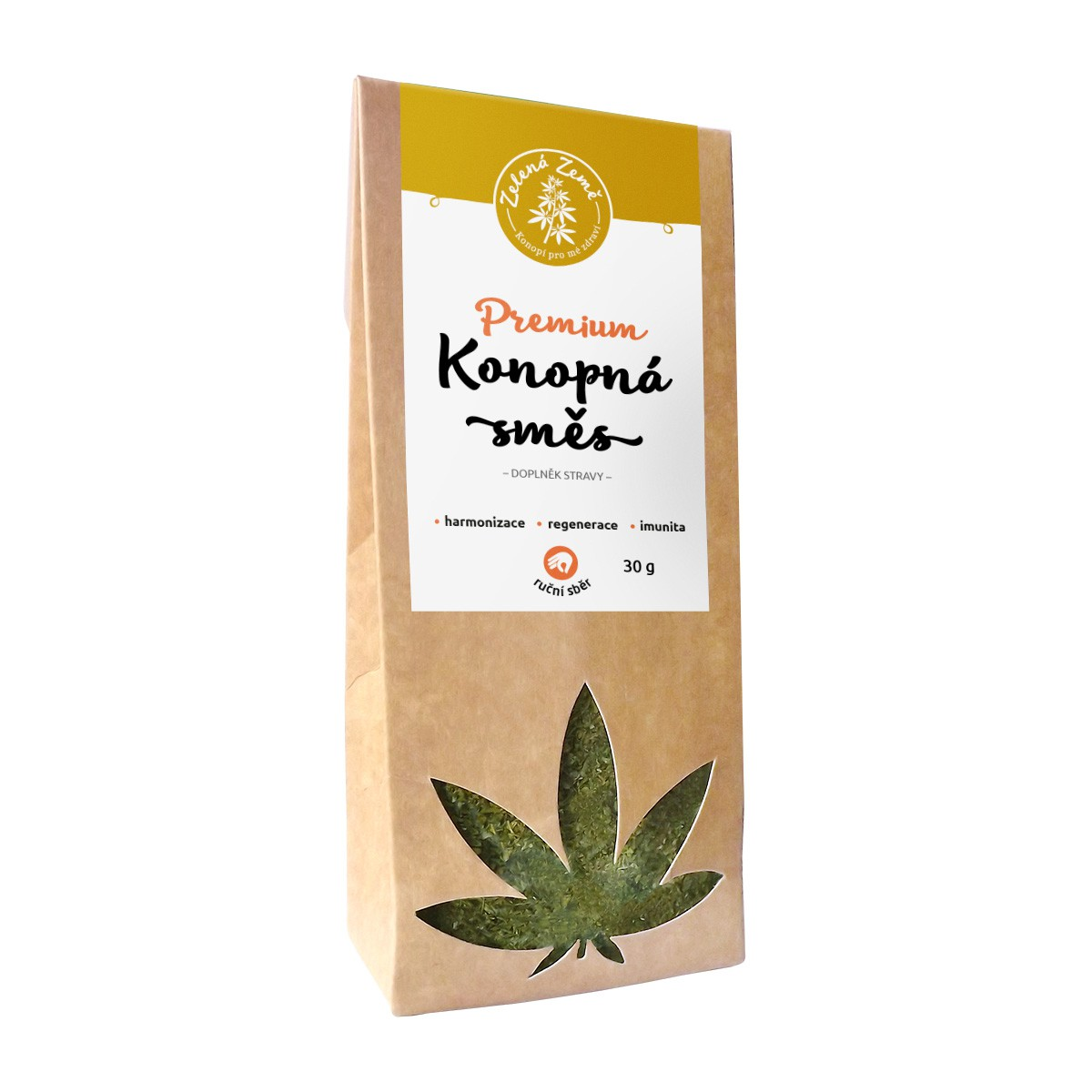 Zelená Země Konopný čaj Premium 30 g
