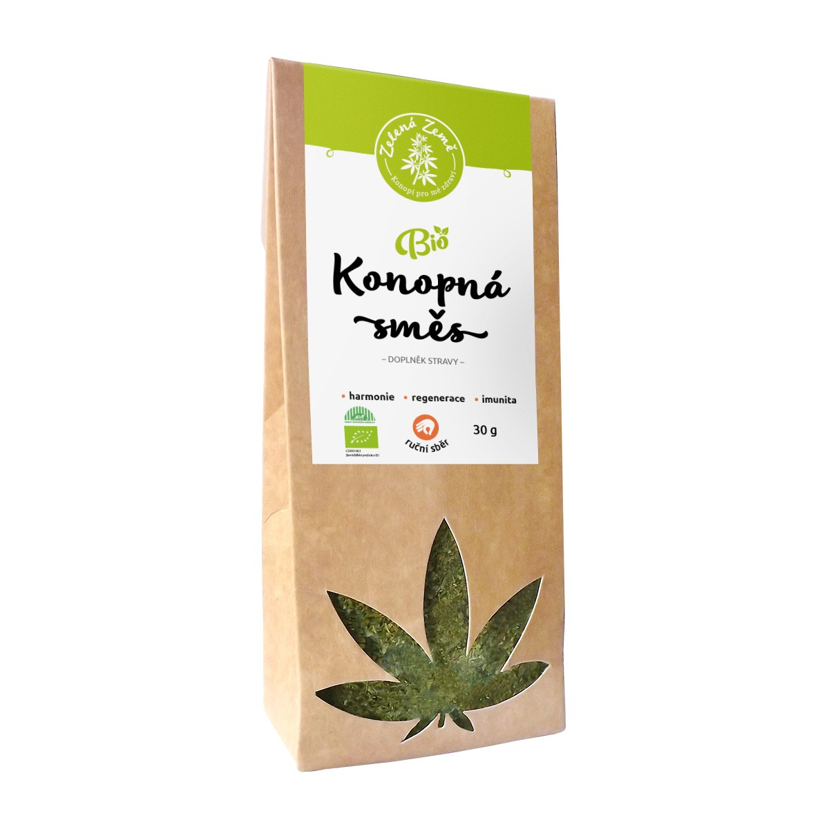Zelená Země Konopný čaj BIO list a květ 30 g