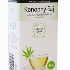 CBD Konopný čaj - porcovaný 30 g (1,6% CBD), Zelená Země