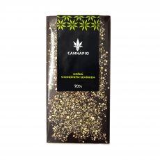Hořká čokoláda s konopným semínkem 70g