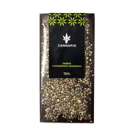 Horká čokoláda s konopným semienkom 70g