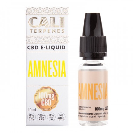 Cali Terpenes CBD E-liquid 100 mg, 10 ml, Amnesia