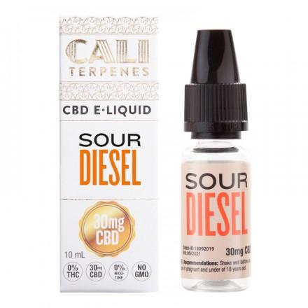 Cali Terpenes CBD E-liquid 30 mg, 10 ml, Sour Diesel