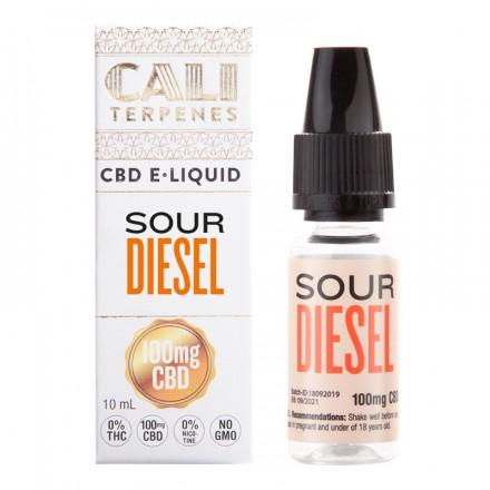 Cali Terpenes CBD E-liquid 100 mg, 10 ml, Sour Diesel