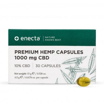Enecta Prémiové konopné kapsule CBD 10%, 1000 mg