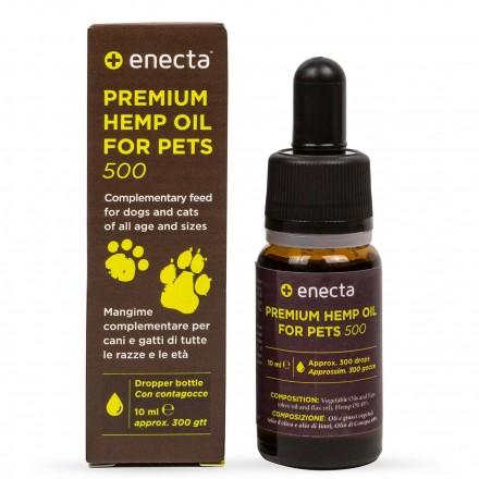 Enecta Prémiový konopný olej pro zvířata 500 mg, 10 ml