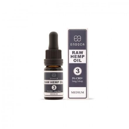 Endoca RAW CBD + CBDa olej 3%, 300 mg, 10 ml