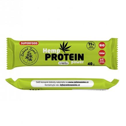 Proteínová tyčinka s kešu 40g, Zelená Země