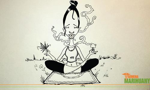 Konopí marihuana meditace