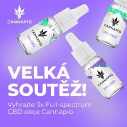 VELKÁ SOUTĚŽ! Vyhrajte Full-spectrum CBD oleje Cannapio
